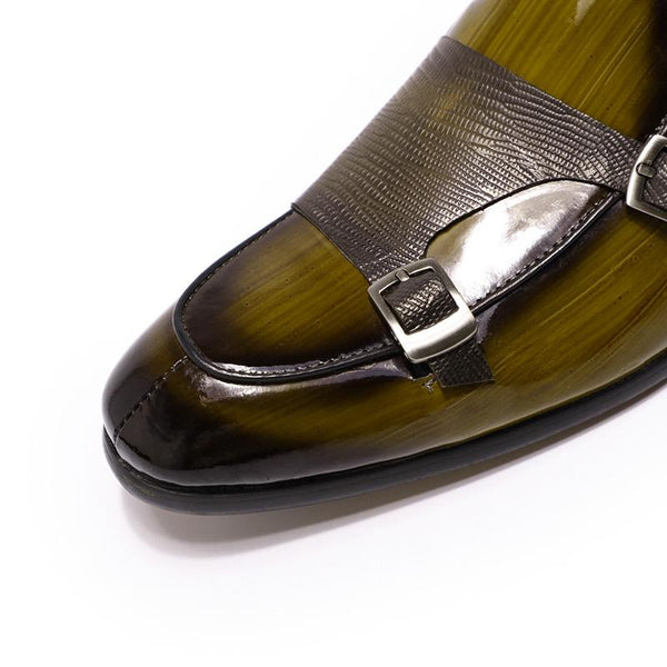 Fashion Patent Leather  Monk Strap Men's Loafer Shoes