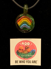 Load image into Gallery viewer, Be Who You Are Pride Signature Pendant