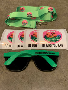 Sunglasses, Lanyard and 4 Stickers Combo Pack