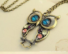 Load image into Gallery viewer, Vintage Owl Necklace
