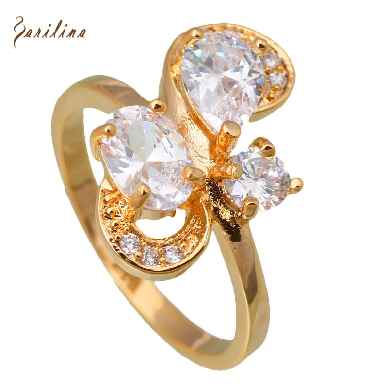 Crystal Gold Ring