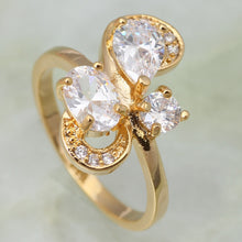 Load image into Gallery viewer, Crystal Gold Ring