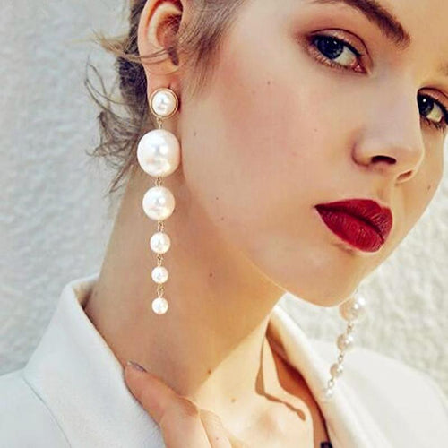 Trendy Pearl Earrings