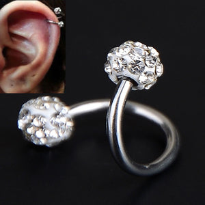 Crystal Twist Spiral Body Jewelry
