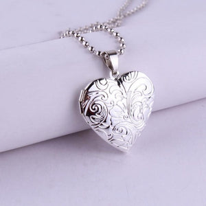 Heart-Shaped Photo Necklace