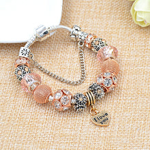Load image into Gallery viewer, Heart Bead Charm Bracelets