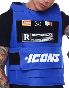 HUDSON ICONS FASHION VEST-ROYAL BLUE REFLECTIVE
