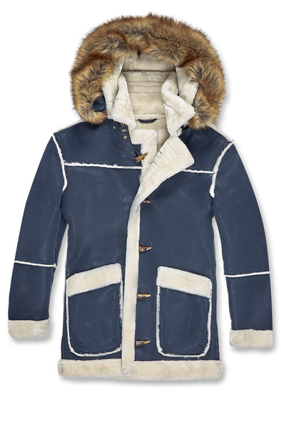 JORDAN CRAIG MEN DENALI SHEARLING JACKET_NAVY WHITE