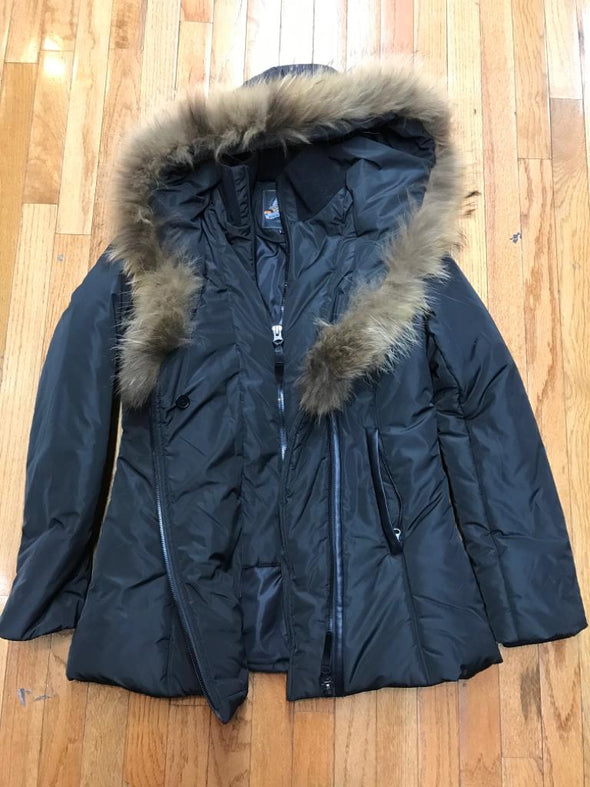RICH COTTON USA DIVA WOMEN WINTER COAT_BLACK