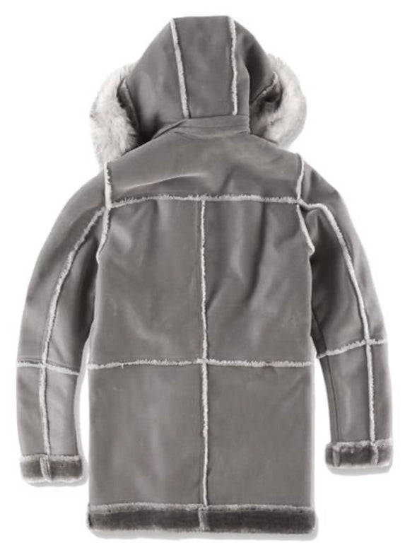 JORDAN CRAIG MEN DENALI SHEARLING JACKET_GREY