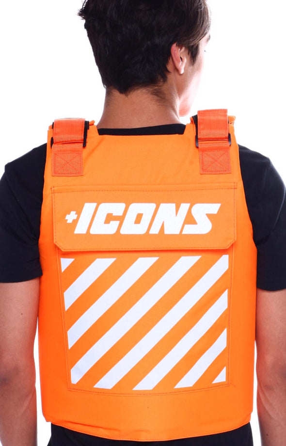 HUDSON ICONS FASHION VEST-Orange