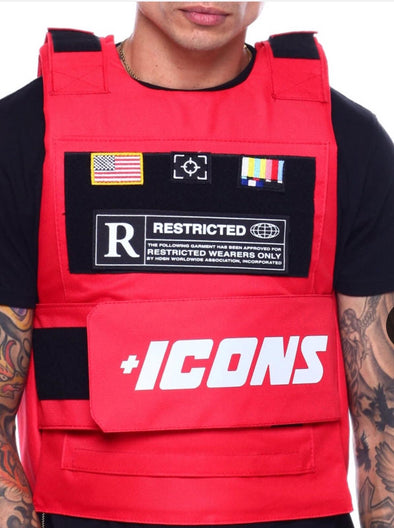 HUDSON ICONS FASHION VEST-RED