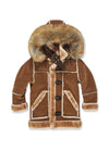 JORDAN CRAIG KIDS DENALI SHEARLING JACKET_WALNUT_91445B