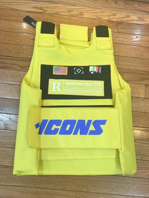 HUDSON ICONS FASHION VEST-YELLOW