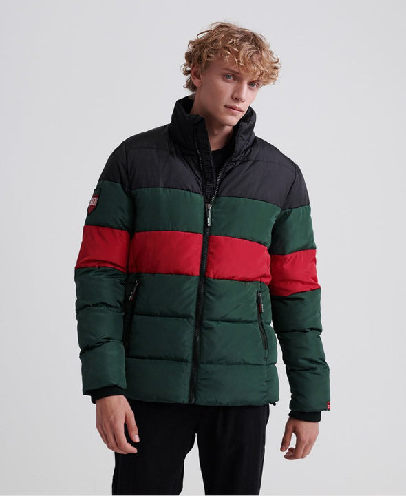 SUPERDRY COLOUR STRIPE PUFFER JACKET