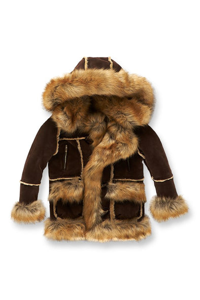 JORDAN CRAIG KIDS ASPEN SHEARLING JACKET (BROWN)