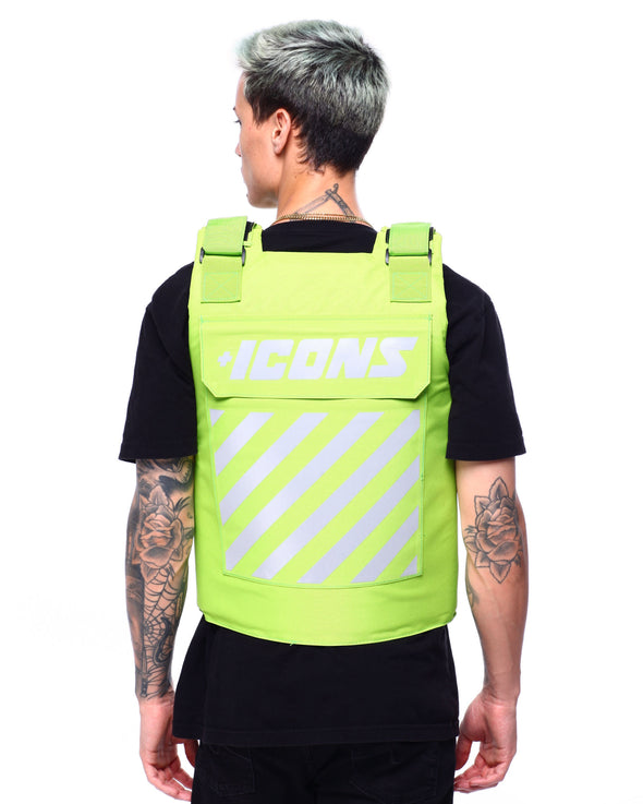 HUDSON ICONS FASHION VEST-NEON GREEN