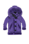 JORDAN CRAIG KIDS DENALI SHEARLING JACKET_PURPLE_91445B