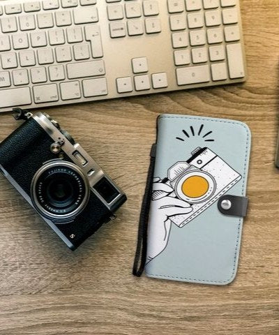 retro photography phone case