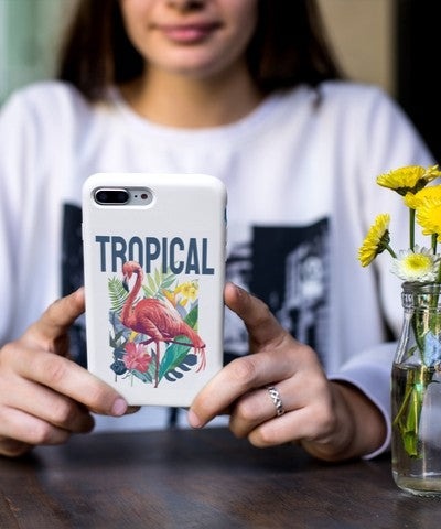 tropical flamingo phone cases