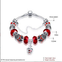 Load image into Gallery viewer, Royal Ruby Crown Jewel Pandora Inspired Bracelet Made with Swarovski Elements