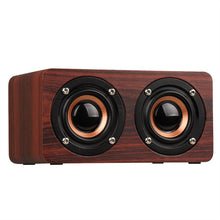Load image into Gallery viewer, W5 Retro Wood Bluetooth Speaker HIFI Dual Hands-free with TF Card AUX IN MP3 Player