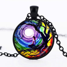 Load image into Gallery viewer, SUTEYI Tree Of Life Statement Necklace Art Photo Glass Cabochon Pendant Charm Choker