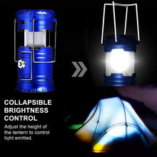 Load image into Gallery viewer, EZK20 LED Camping Lantern Flashlights Collapsible Solar Tent Light Gear Equipment for Emergencies