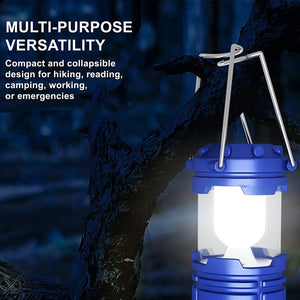 EZK20 LED Camping Lantern Flashlights Collapsible Solar Tent Light Gear Equipment for Emergencies