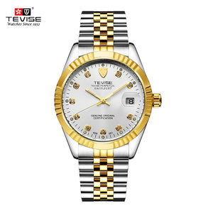 TEVISE Men Wristwatch Waterproof Semi-automatic Mechanical Watch