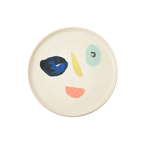 Squiggle Face Dinner Plate