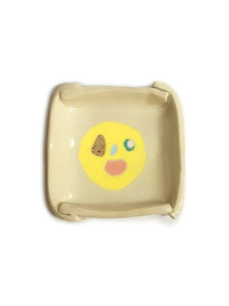 Small Smiley Face Ceramic Tray