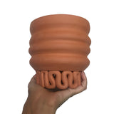 Wiggle Squiggle Planter - Terracotta
