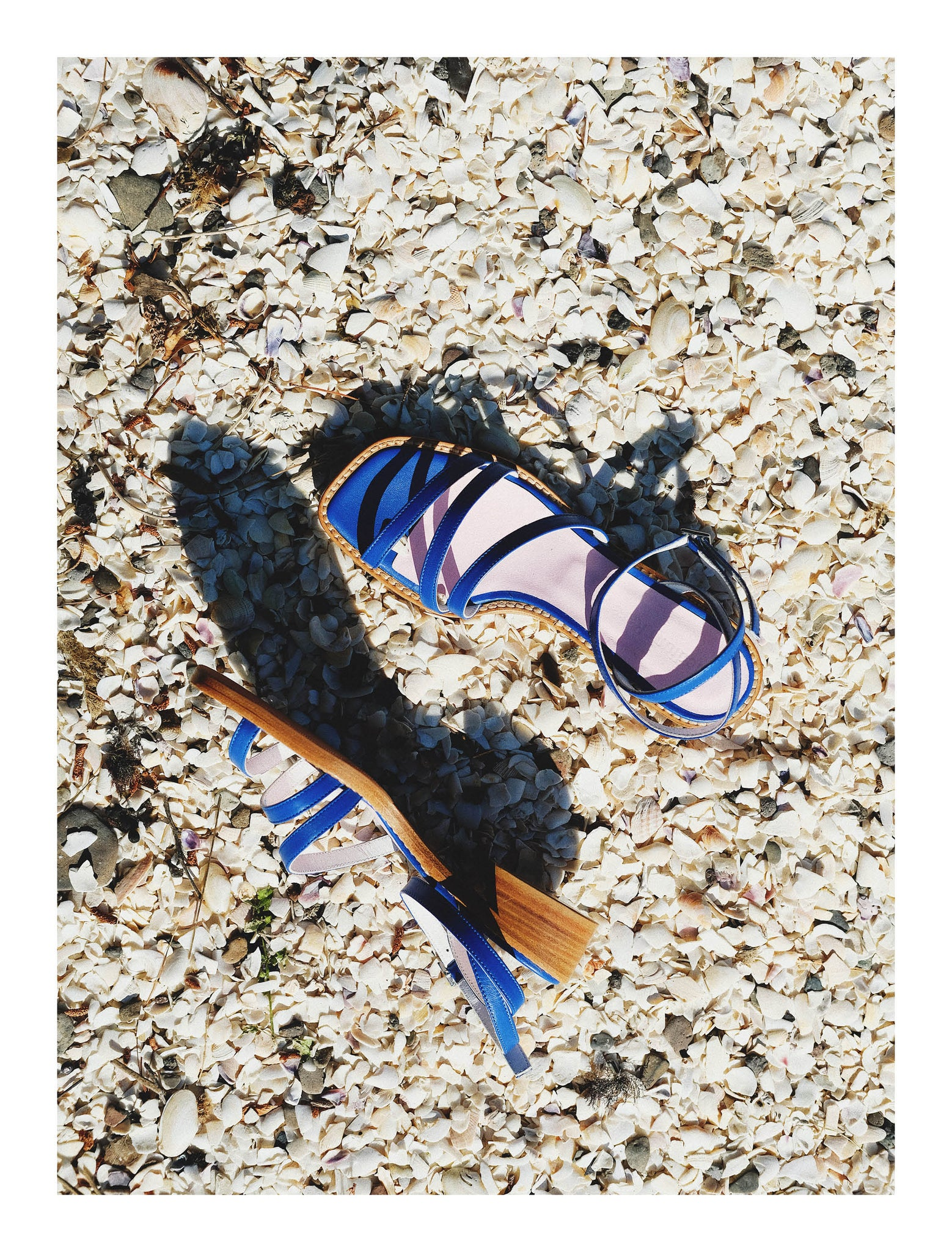 THE STRAPPY SANDAL | COBALT
