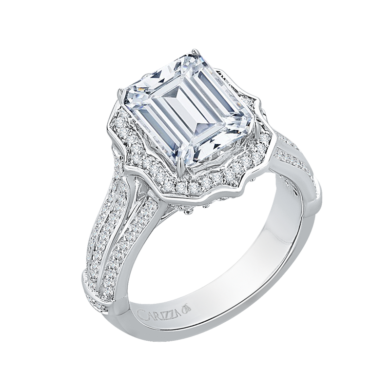 Carizza Emerald Cut Engagement Rings Collection