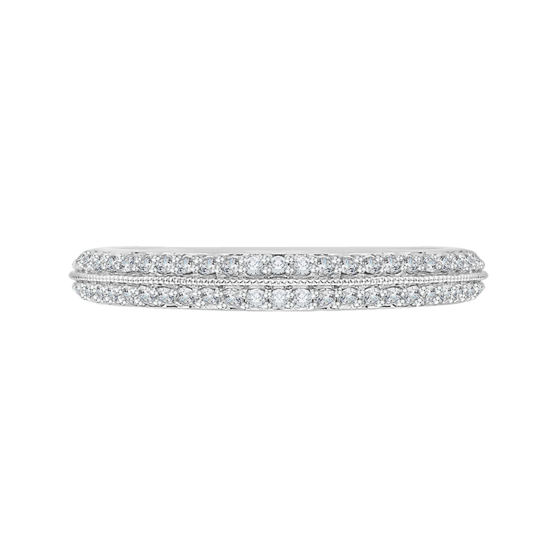 CA0045B-37W Bridal Jewelry Carizza White Gold  Diamond  Wedding Bands