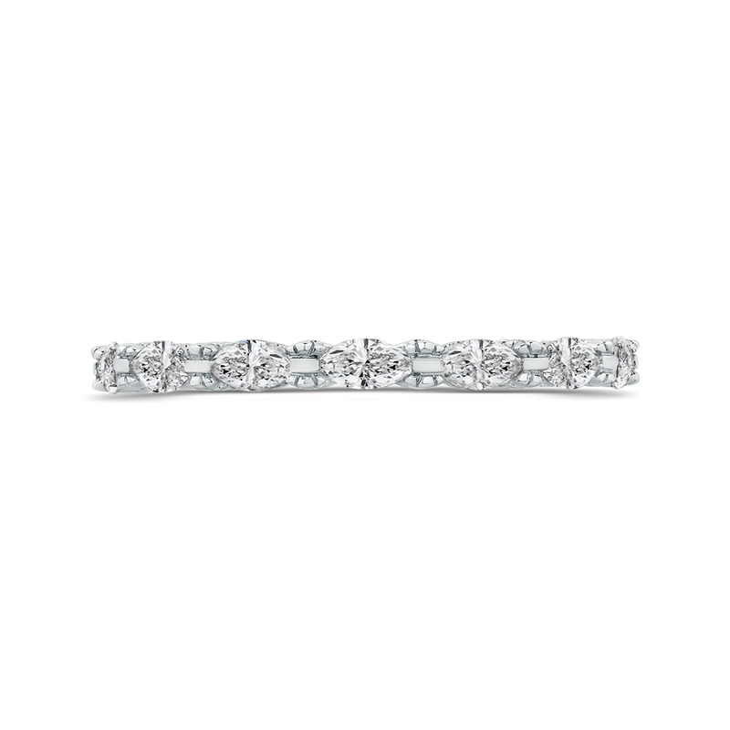 CA0252B-37W-1.00 Bridal Jewelry Carizza White Gold Marquise Cut Diamond  Wedding Bands