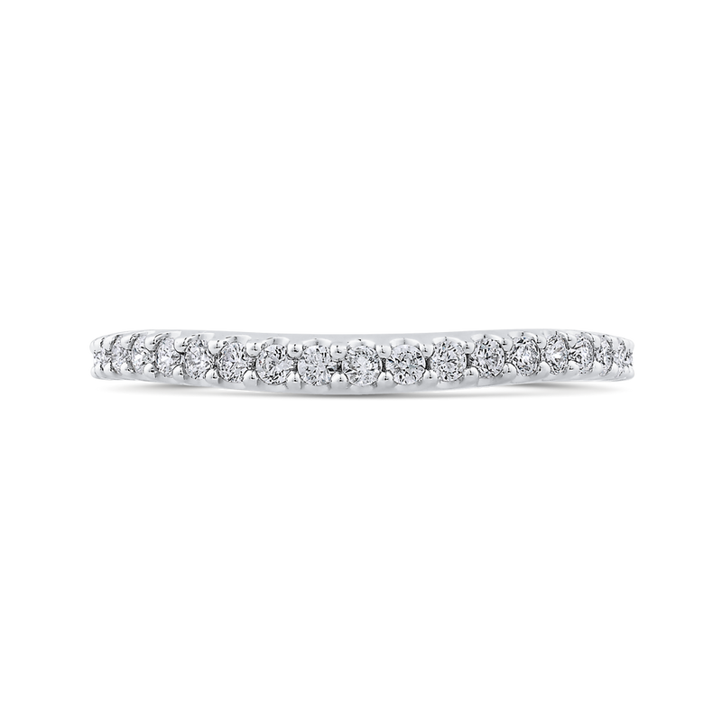 CA0414BH-37W-1.50 Bridal Jewelry Carizza White Gold Round Diamond  Wedding Bands