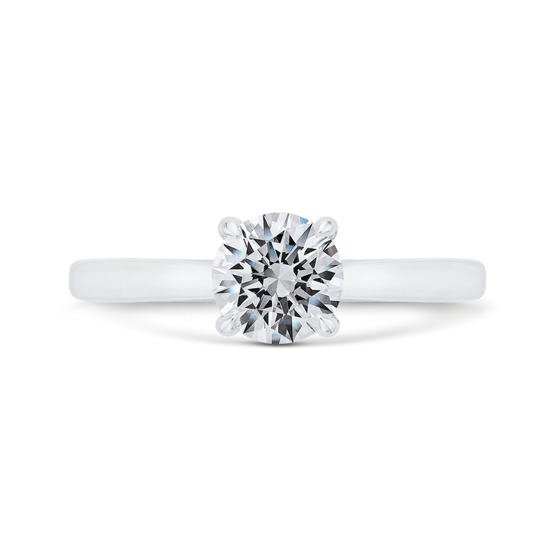 CA0497E-W-1.00 Bridal Jewelry Carizza White Gold Round Solitaire Engagement Rings