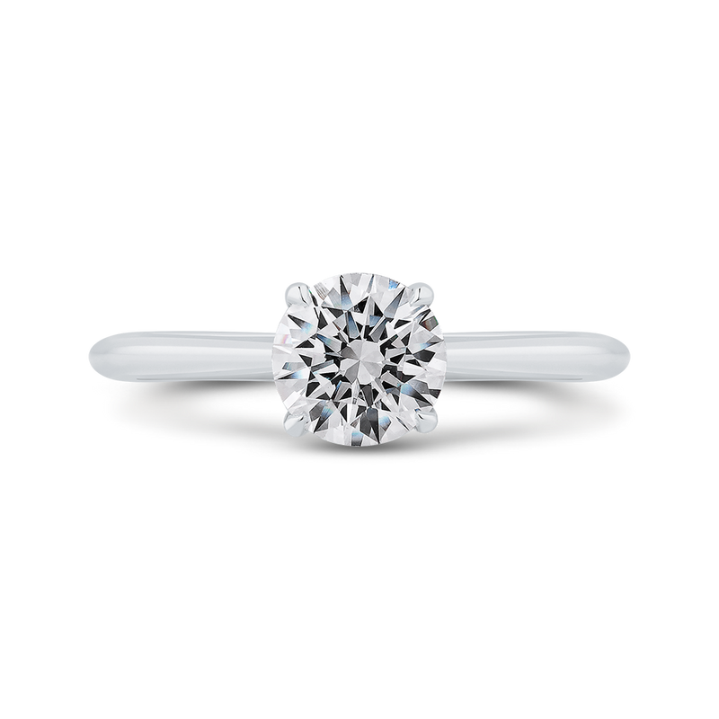 CA0504E-W-1.00 Bridal Jewelry Carizza White Gold Round Solitaire Engagement Rings