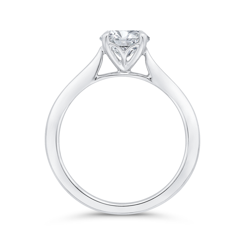 14K White Gold Solitaire Engagement Ring (Semi-Mount)