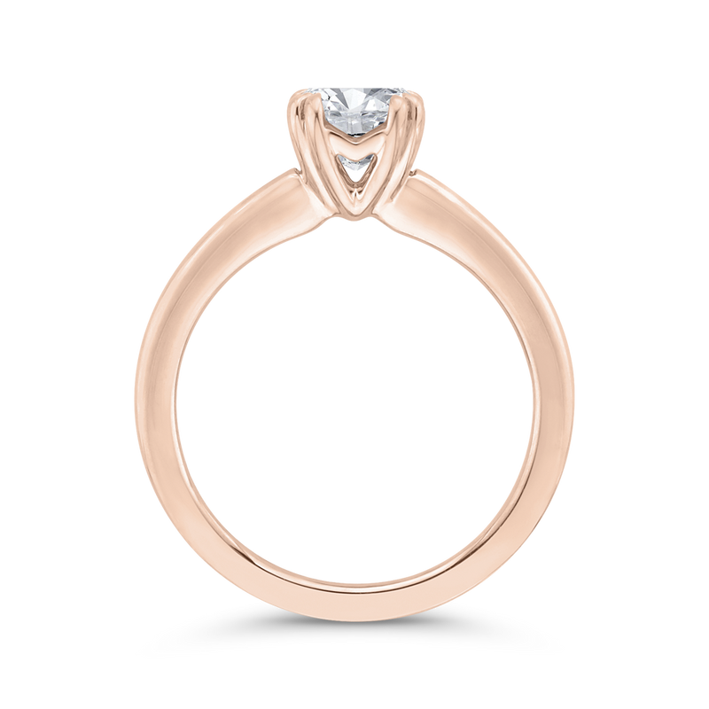 14K Rose Gold Solitaire Engagement Ring (Semi-Mount)