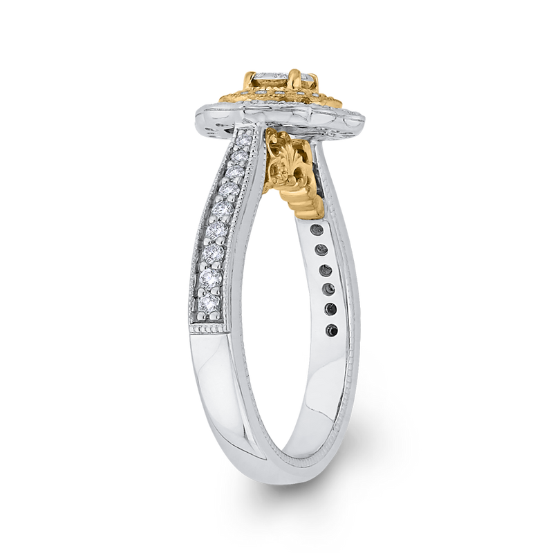 1/2 ct Round Diamond Fashion Ring In 10K Two Tone Gold