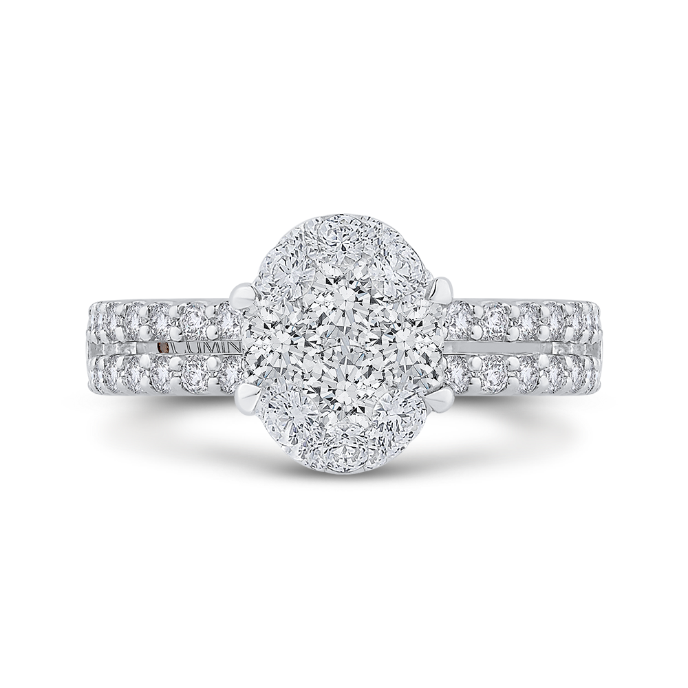 LURO0185-42W-2.00 Bridal Jewelry Luminous by Carizza White Gold Round Diamond  Engagement Rings