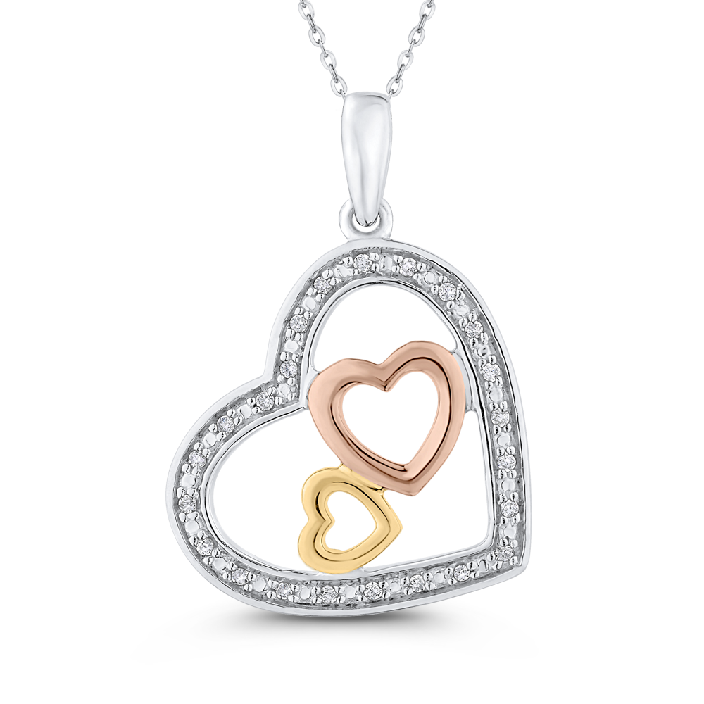 PH0229T-25WPY Fashion Jewelry Carizza Fashion White Gold Yellow Gold Rose Gold Diamond Pendants Necklaces