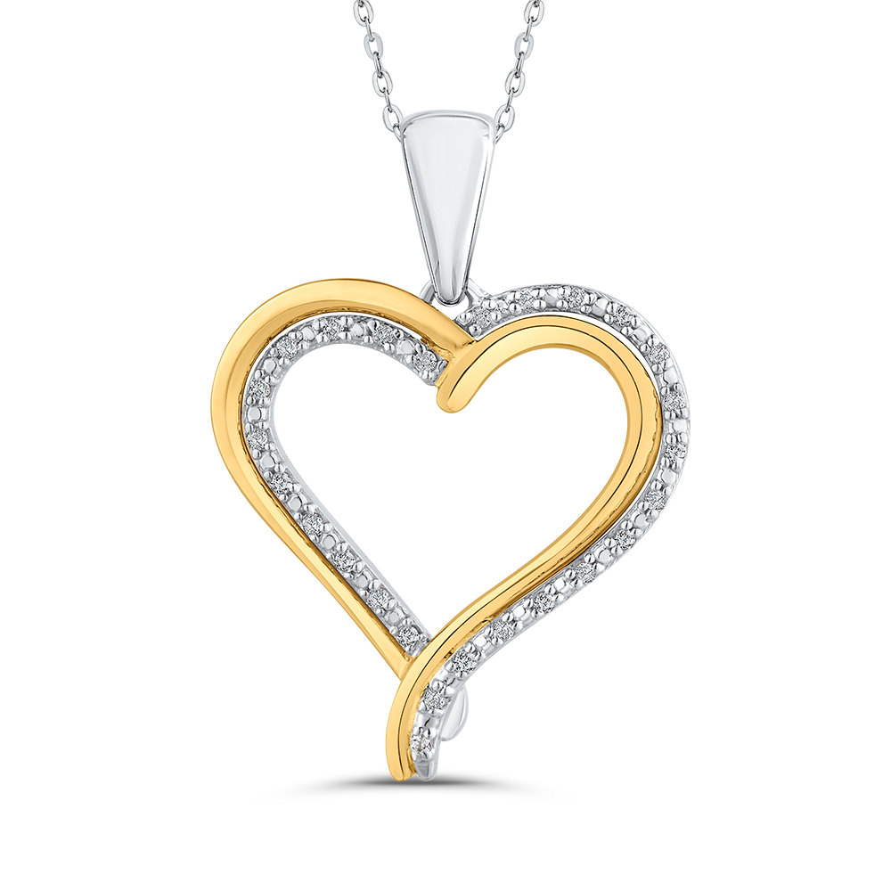 PH0236T-25WY Fashion Jewelry Carizza Fashion White Gold Rose Gold Yellow Gold Diamond Pendants Necklaces