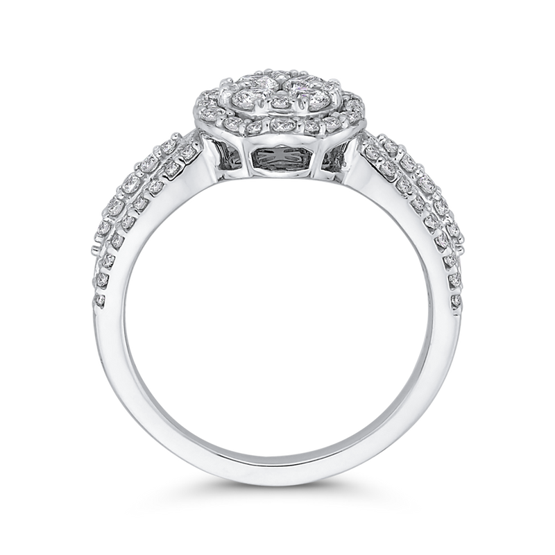 10K White Gold 7/8 Ct Diamond Fashion Ring