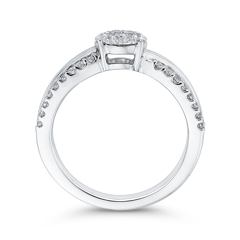 10K White Gold 5/8 Ct Diamond Fashion Ring