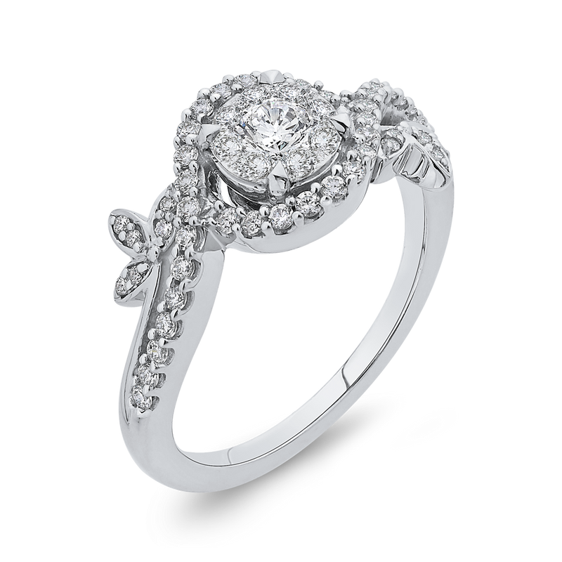 10K White Gold 1/2 Ct Diamond Fashion Ring