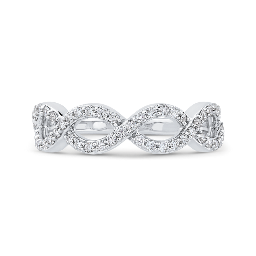 Infinity Wedding Band.10k White Gold 1 2 Ct Round Diamond Infinity Wedding Band Ring